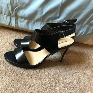 Black Michael Kors Leather Sandals